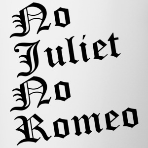 No_Juliet_No_Romeo T-shirt - Tazze bicolor