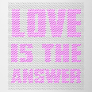 LOVE IS THE ANSWER - Tazze bicolor