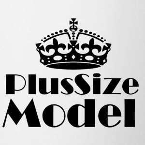 Plus-size model - Mok tweekleurig