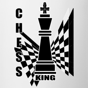Chess king - Kubek dwukolorowy