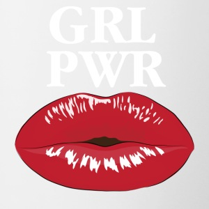 GRL PWR Girl Power Kiss T-Shirt - Tasse zweifarbig