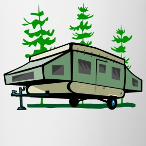 Camping Pop Up Trailer - Contrasting Mug
