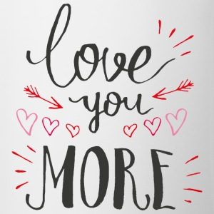 Love you more - Mok tweekleurig