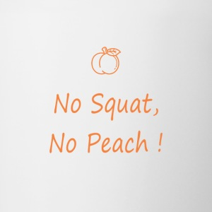 No squatting, no peach - Contrasting Mug