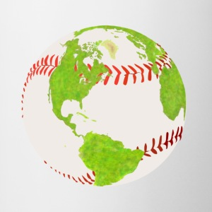 baseball maapallo earth planet earth maapallo - Kaksivärinen muki