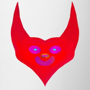 heart horns devil satan abstract - Contrasting Mug
