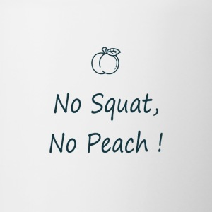No squat, no peach in blue - Tasse bicolore