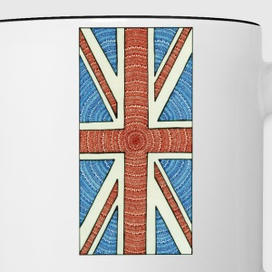 Unique British flag - Tvåfärgad mugg