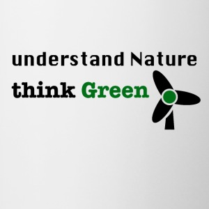 Understand Nature. Think Green! - Contrasting Mug