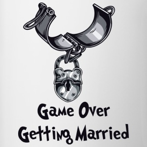 Game Over Getting Married - Kubek dwukolorowy