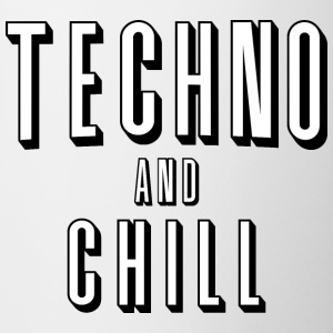 Techno en chill - Mok tweekleurig