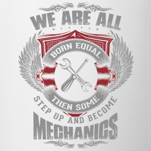 All are born equal mechanic - Contrasting Mug