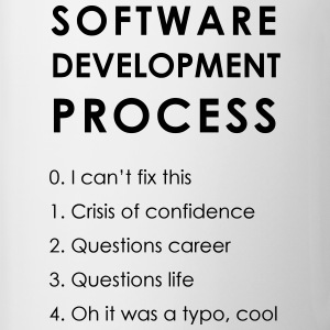 Software Development Process - Mok tweekleurig