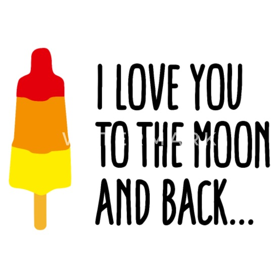 Bär Illustration Valentinstag Geschenk Love You To The Moon Liebe Spruch
