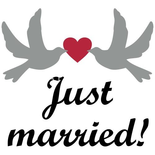 Just Married Hochzeit Hochzeitsreise Brautpaar Tasse Spreadshirt