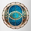 Vesica Piscis, Chalice Well, Avalon, Galaxy, Space - Taza