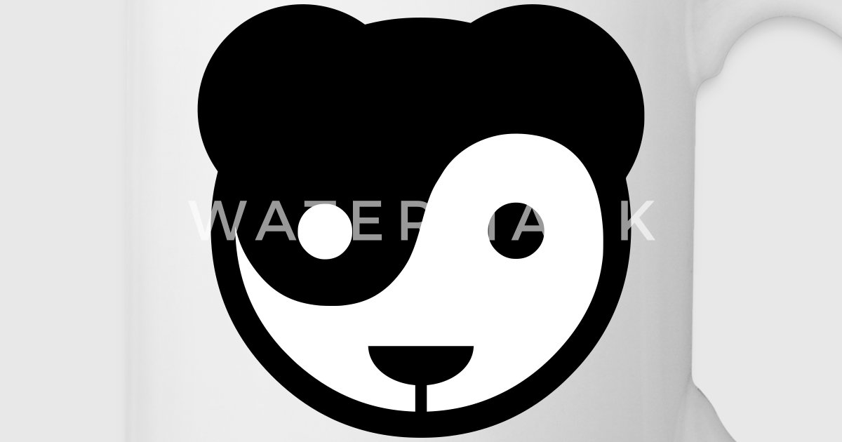 yin yang panda teddy von eok73 spreadshirt. Black Bedroom Furniture Sets. Home Design Ideas