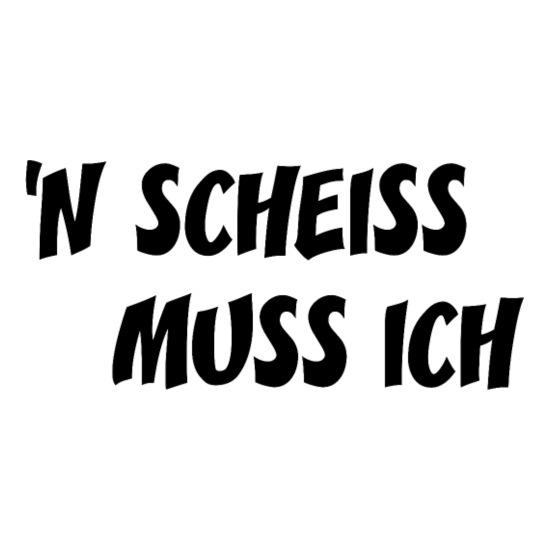 """Tasse /""""Einen Scheiss muss ich!/"""" schwarze Tasse Geschenk Geschenkidee"""