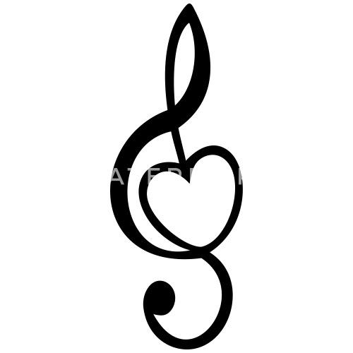 Notenschlüssel Mit Herz : notenschl ssel mit herz violinschl ssel musik tasse ~ Watch28wear.com Haus und Dekorationen