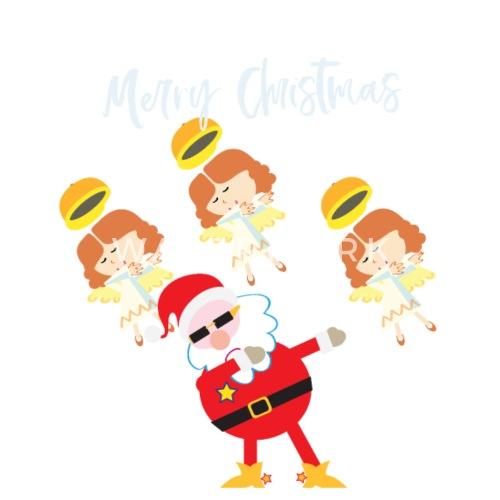 Weihnachtsmann mit Engeln dabbing merry christmas von FritzLang ...