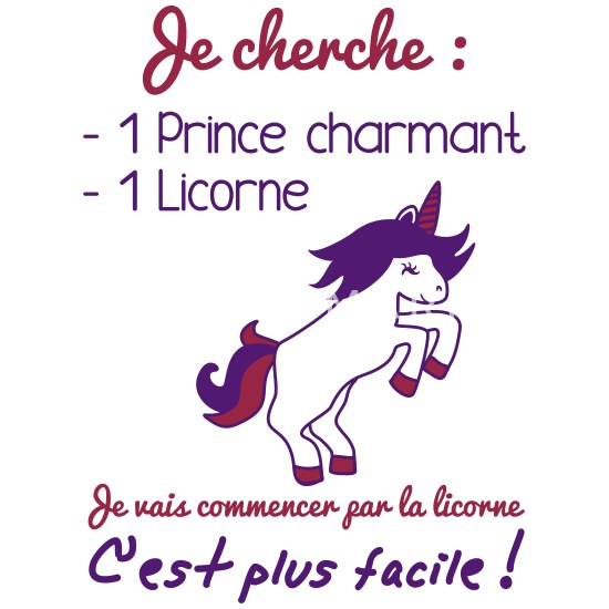 Prince Charmant Licorne Humour Citation Princesse Mug Spreadshirt