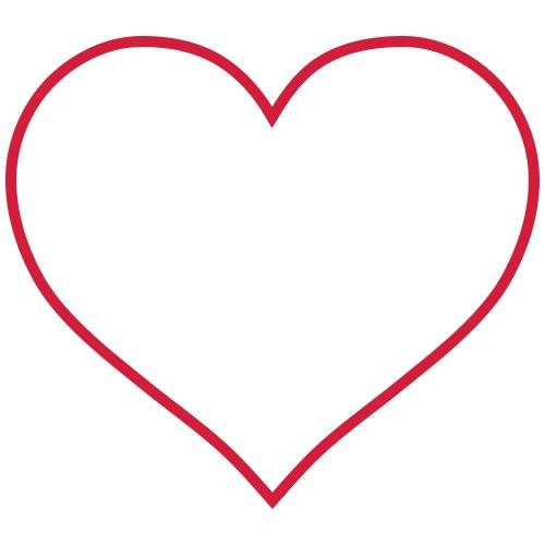 Sydän ääriviivat