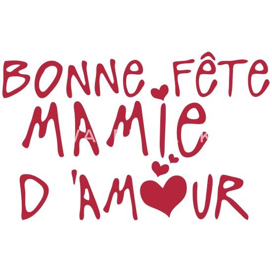 Mamie Bonne Fete Amour Coeur Mug Blanc Blanc