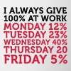 I always give 100 percent at work! - Mug