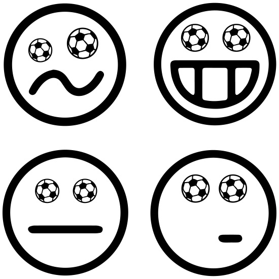 Smiley Fussball Emoticon Fussball Happy World Cup Tasse Weiss