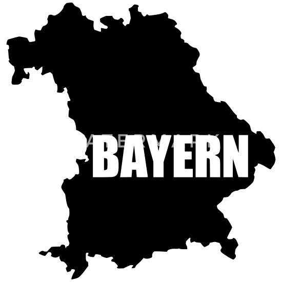 Bayern Bundesland Karte Tasse Spreadshirt