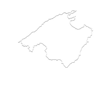 Mallorca Karte Umriss.Mallorca Umriss Silhouette Bierkrug Weiss