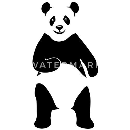 c36f19487e7f23 panda géant ours en peluche teddy T-shirt manches longues baseball Homme    Spreadshirt