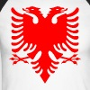 Albanian Eagle Herald Red - Men's Long Sleeve Baseball T-Shirt