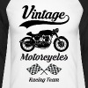 vintage motorcycles team 08 - T-shirt baseball manches longues Homme