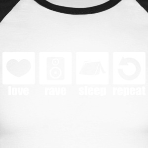 Love rave sleep repeat - Men's Long Sleeve Baseball T-Shirt
