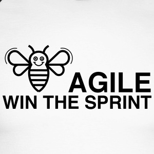 BE AGILE WIN THE SPRINT - Männer Baseballshirt langarm