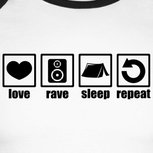 Love rave sleep repeat festival - Men's Long Sleeve Baseball T-Shirt