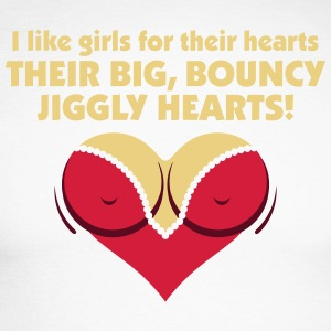 I Like Girls With Big,Bouncy Jiggly Hearts! - Men's Long Sleeve Baseball T-Shirt