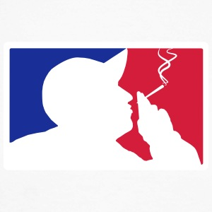 Major League Blazin ' - Langermet baseball-skjorte for menn
