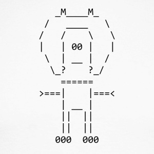 ASCII naut - Men's Long Sleeve Baseball T-Shirt