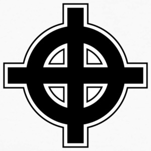 Celtic Cross - Langermet baseball-skjorte for menn