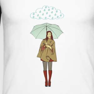 rain woman - Men's Long Sleeve Baseball T-Shirt