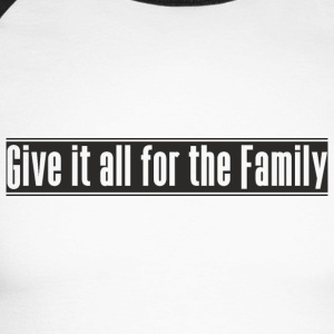 Give_it_all_for_the_Family designen - Långärmad basebolltröja herr