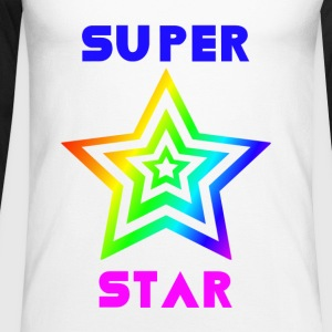 Rainbow Super Star - Men's Long Sleeve Baseball T-Shirt