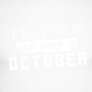 Legends are born in October - Men's Long Sleeve Baseball T-Shirt
