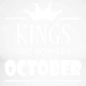 Kings are born in October - Men's Long Sleeve Baseball T-Shirt