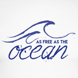 AS FREE AS ​​THE OCEAN - Men's Long Sleeve Baseball T-Shirt