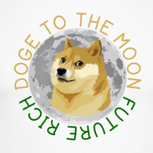 DOGE TO THE MOON - Men's Long Sleeve Baseball T-Shirt