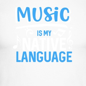 Music is my native language - Men's Long Sleeve Baseball T-Shirt