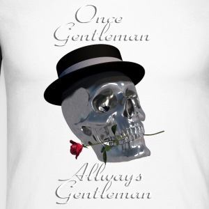 Gentlemans Skull - Langermet baseball-skjorte for menn